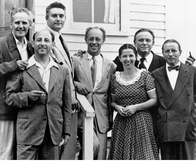Marlboro's founders: Marcel Moyse, Louis Moyse, Rudolf Serkin, Blanche Moyse, Adolf Busch, Herman Busch  (with cellist Nathan Chaikin second from left)