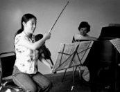 Hiroko Yajima, András Schiff. Photo by George Dimock.