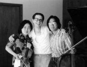 Yuuko Shiokawa, Luis Batlle, Yo-Yo Ma. Photo by Woodrow Leung.