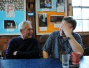 Arnold Steinhardt and Ignat Solzhenitsyn. Photo by Pete Checchia.