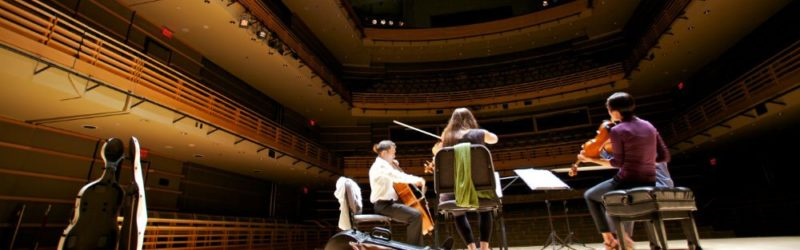 Musicians in the Kimmel Center's Perelman Theater