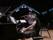 Gabriel Campos Zamora, Matthew Lipman, Jonathan Biss. Photo by Allen Cohen.