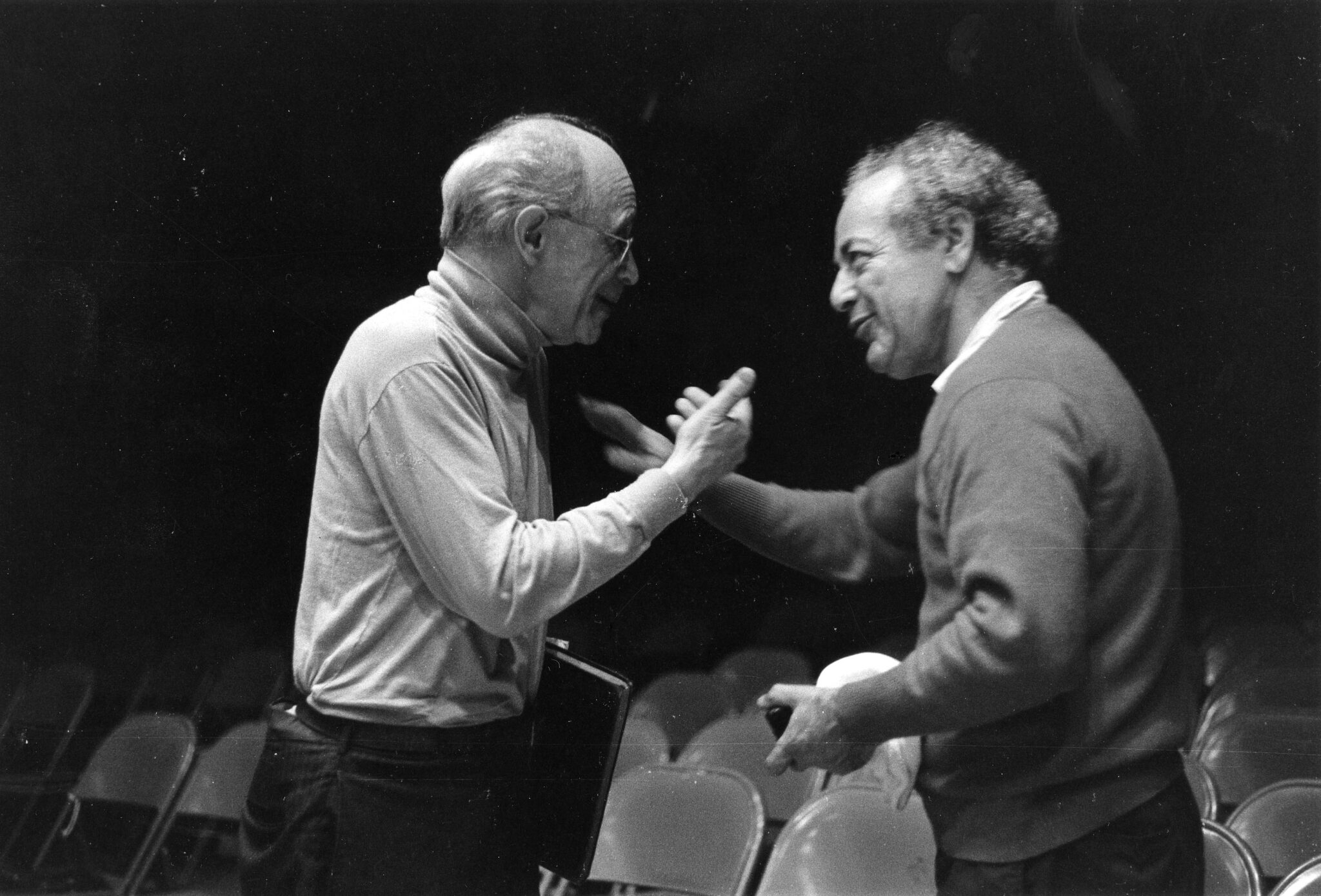 "Rudolf Serkin and Alexander Schneider | ""For me, my purpose is to get young people to learn how to make music. When you make music, it has to come from your heart, from your soul, or it has no meaning. It's an extraordinary experience when I see the results. They produce a sound a professional orchestra couldn't:  a love of music."" -Sasha Schneider. Photo by Woodrow Leung."