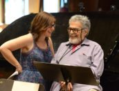 Lydia Brown and Leon Fleisher. Photo by Pete Checchia.